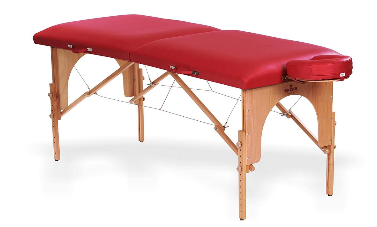 Arcada - masă de masaj portabilă, două secțiuni, culoare  roșie