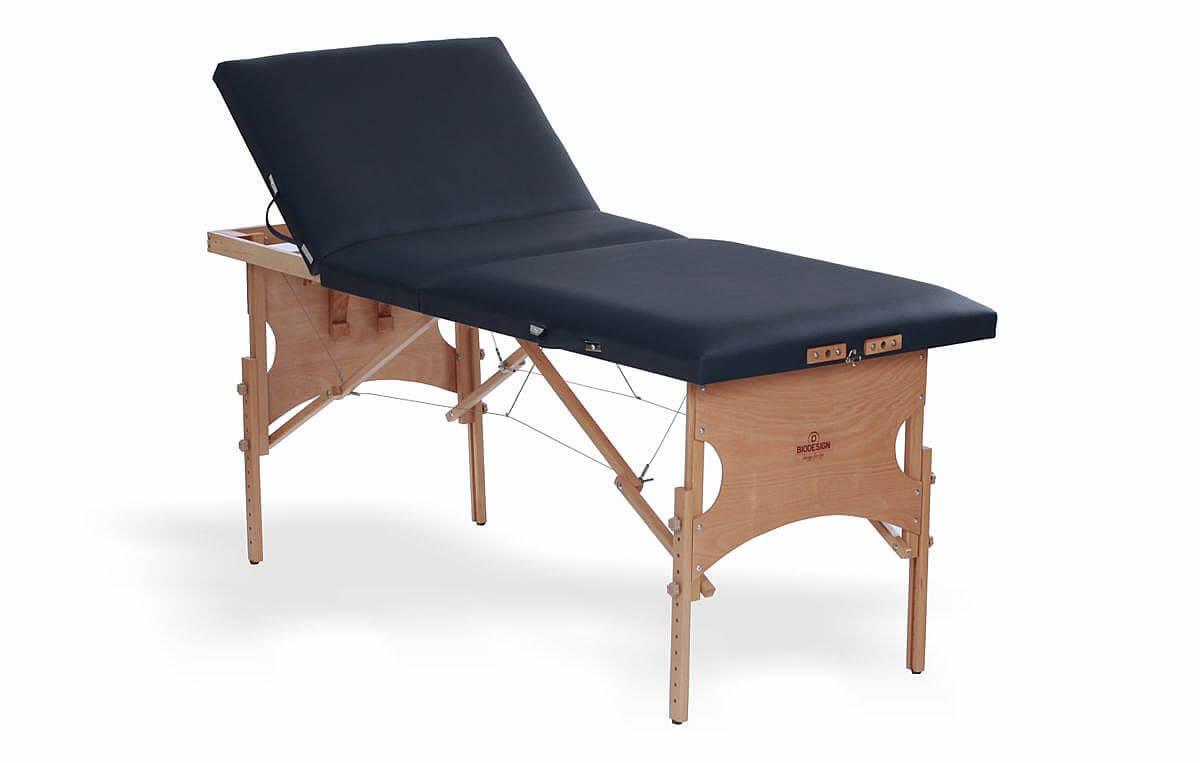 Confort - masă de masaj portabilă, trei secțiuni, culoare albastru