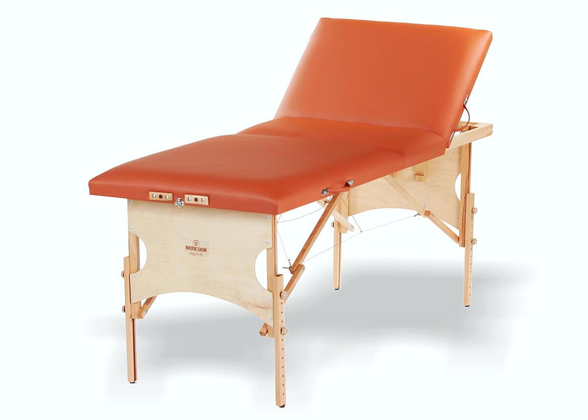 Confort - masă de masaj portabilă, trei secțiuni, culoare maro-brandy