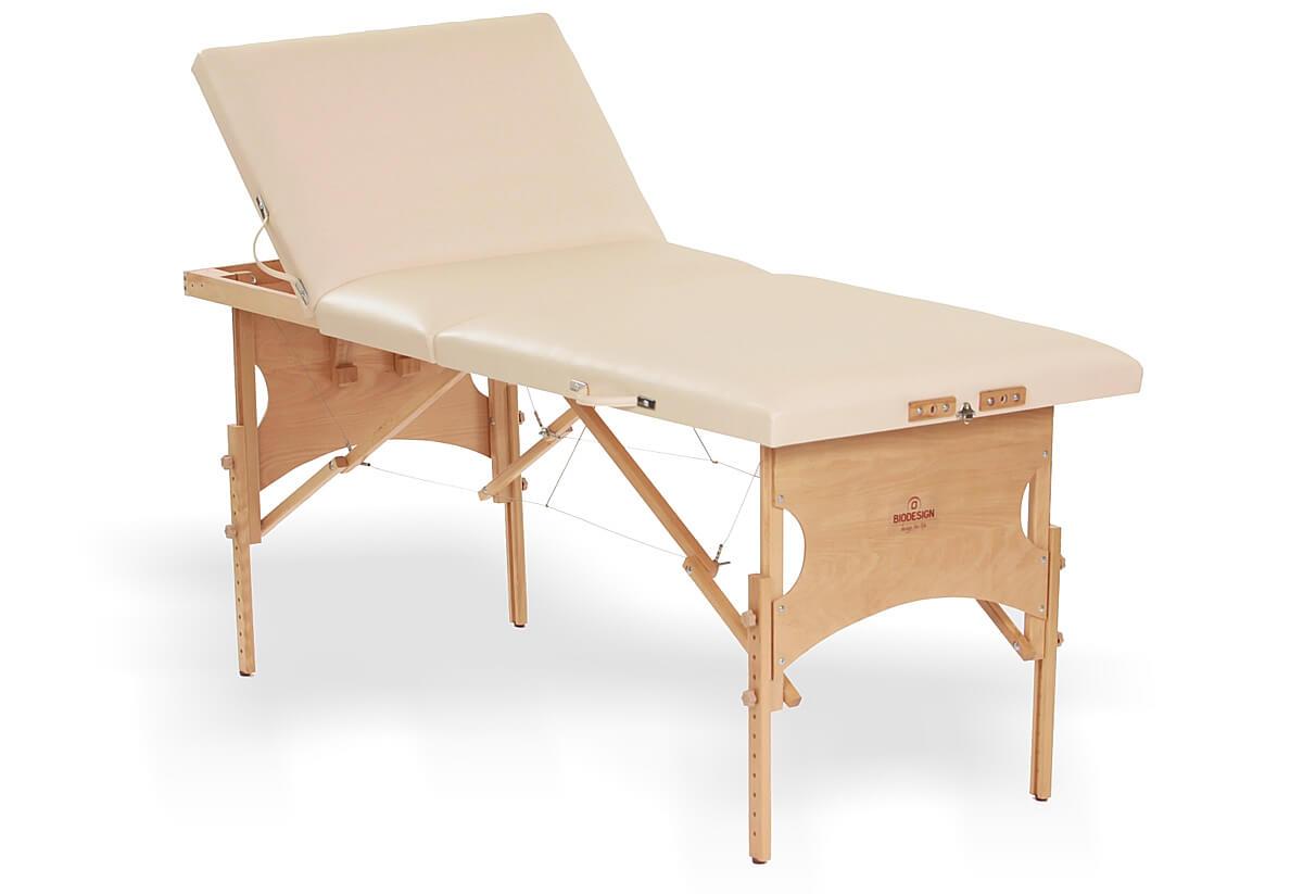 Confort - masă de masaj portabilă, trei secțiuni, culoare crem