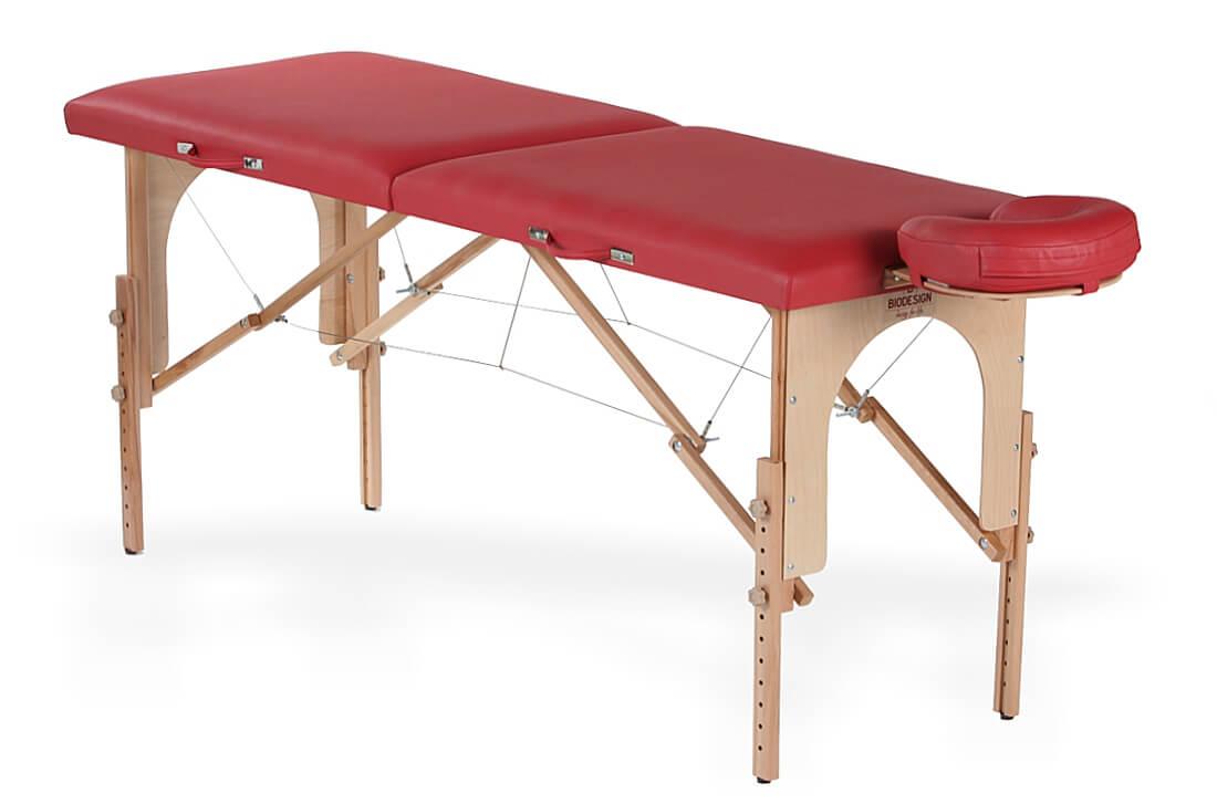 Junior - masă de masaj portabilă, culoare roșie, de la BIOS!