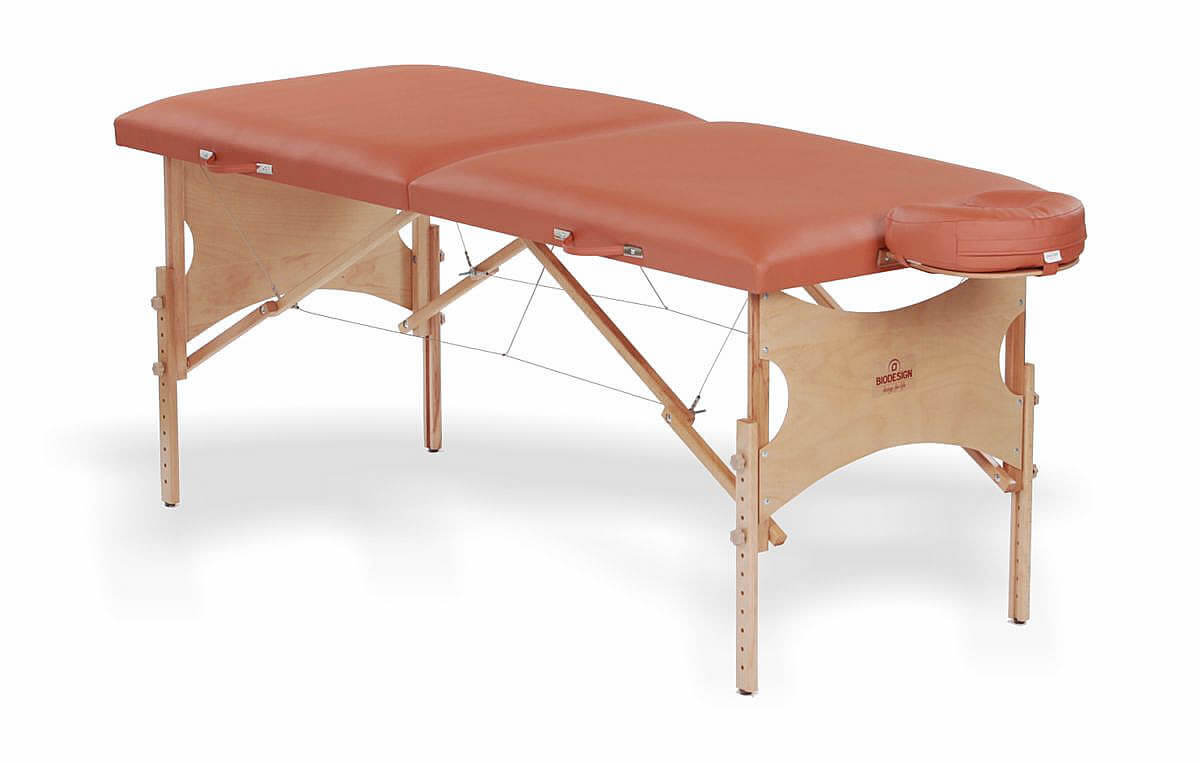 Spirit - masă de masaj portabilă, două secțiuni, culoare  brandy