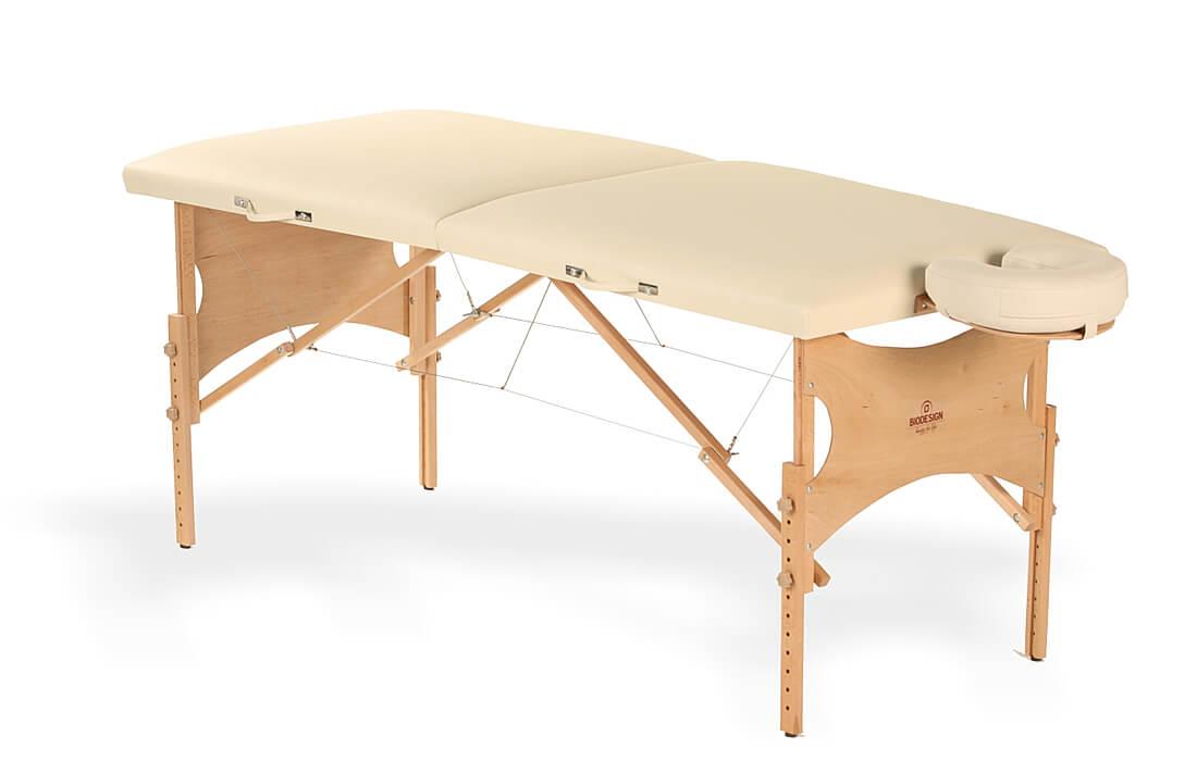 Spirit - masă de masaj portabilă, două secțiuni, culoare  crem