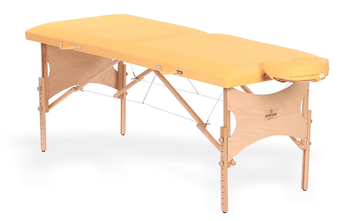 Spirit - masă de masaj portabilă, două secțiuni, culoare galben