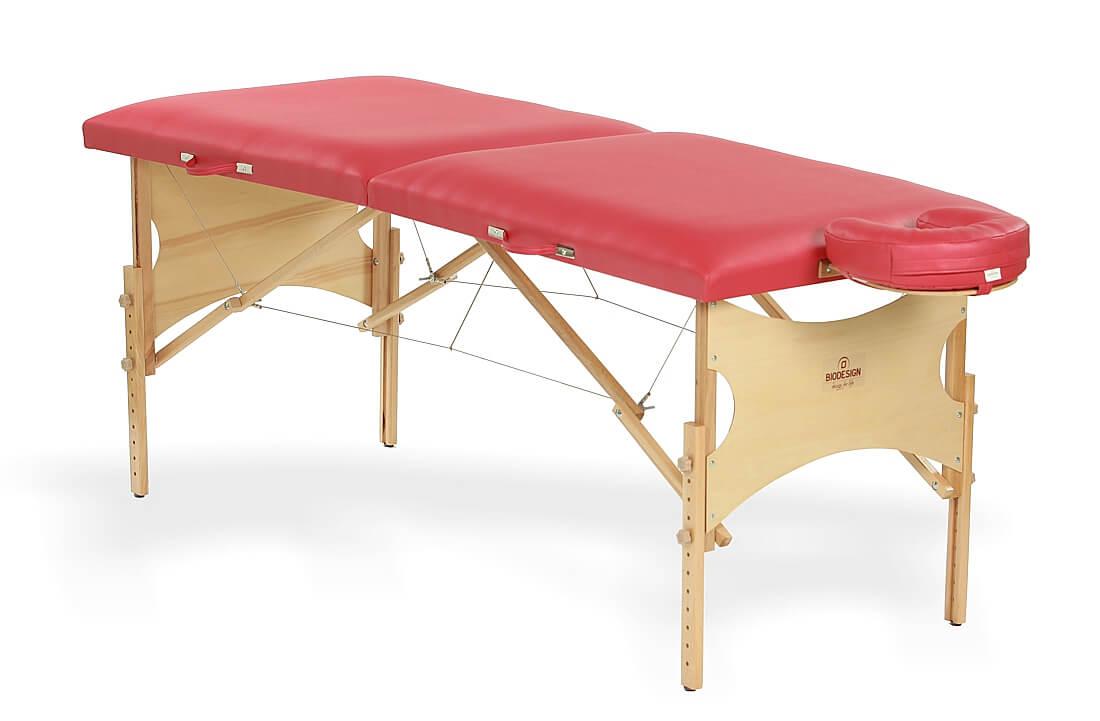Spirit - masă de masaj portabilă, două secțiuni, culoare roșie