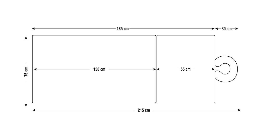 Dimensiuni perna patru sectiuni, model Aisha, schita 4