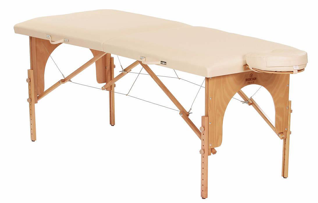 Arcada - masă de masaj portabilă, două secțiuni, culoare crem