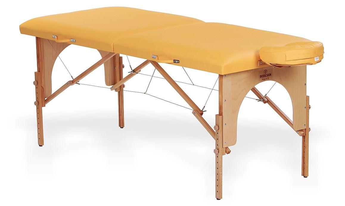 Arcada - masă de masaj portabilă, două secțiuni, culoare  galben-piersică