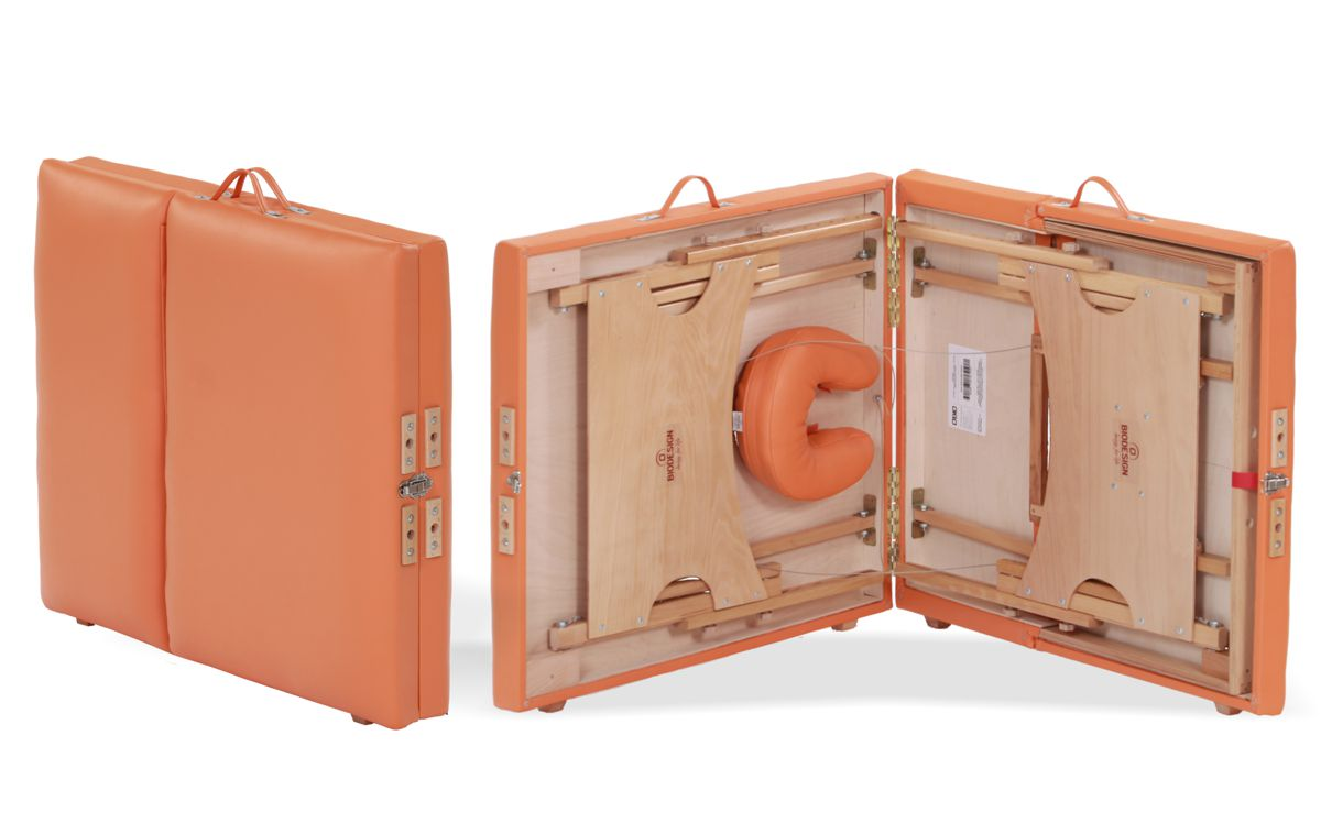 Confort - masă de masaj portabilă, trei sectiuni, culoare orange