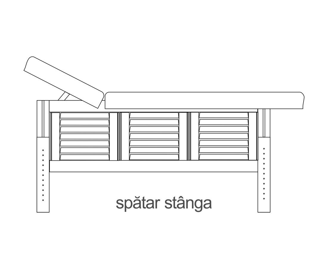Laguna, masă de masaj fixă,  spătar stânga