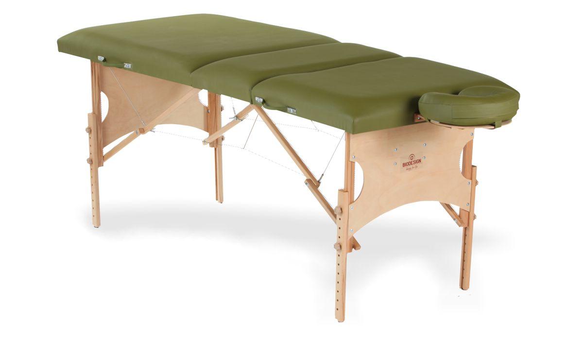 Confort - masă de masaj portabilă, trei secțiuni, culoare verde-olive