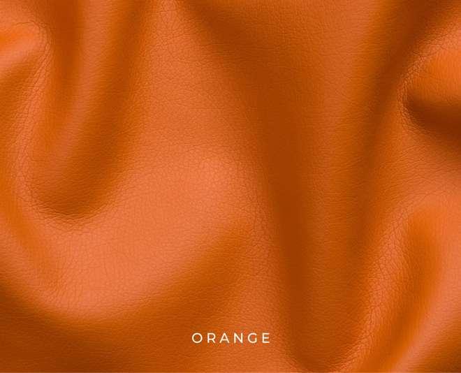 Mostră piele ecologică culoare orange