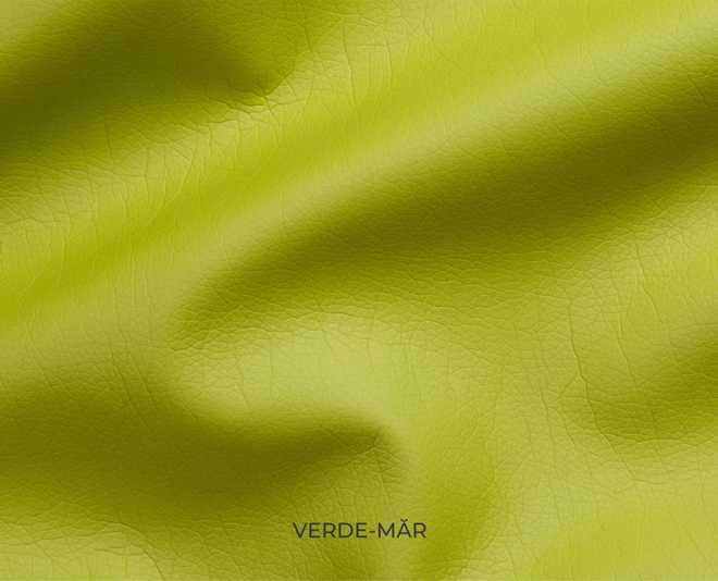 Mostră piele ecologică culoare verde-măr